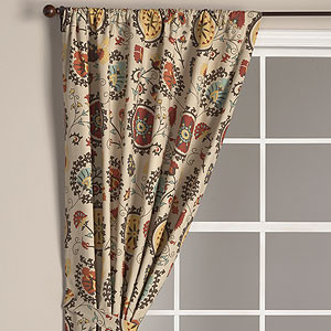 Suzani Print Curtain Panel eclectic-curtains