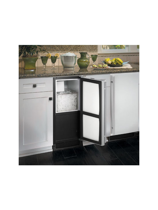 U-Line BI2115S Icemaker - As most parties include cold drinks, it's fair to say that an ice maker is ideal for an entertaining island.  It ensures that your guests' drinks are always cold and no one has to run to the store if your refrigerator's ice maker runs short.