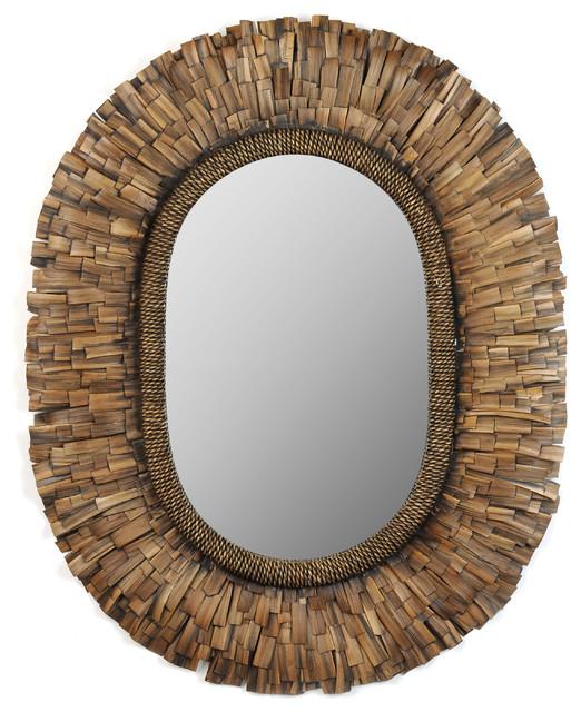 Havana Oval Mirror 31x38 Wall Mirrors by Kirkland s