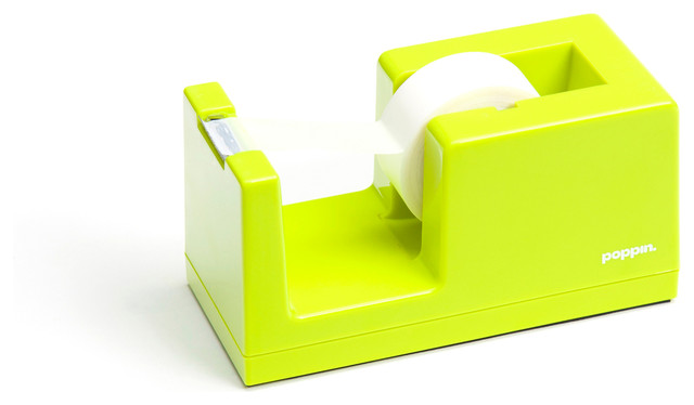Tape Dispenser Lime Green Modern Desk Accessories