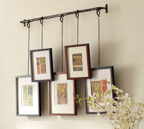 Twig display system eclectic picture frames by for Hanging frames on walls