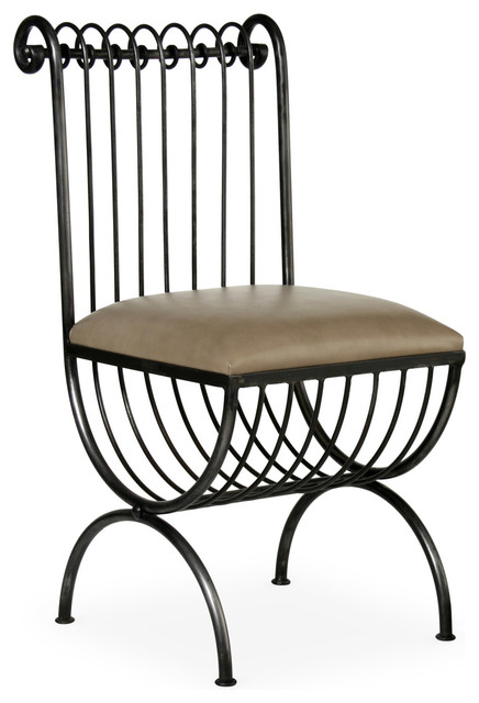 Lucia Metal Chair - Modern - Dining Chairs - new york - by Coach Barn