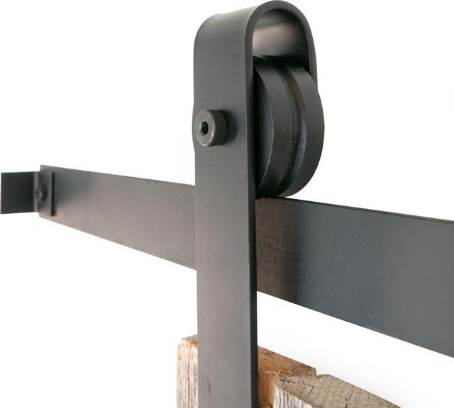 Classic Sliding Barn Door Closet Hardware, Rustic Red, 5ft - Industrial - Barn Door Hardware ...
