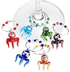 Colorful wine charms