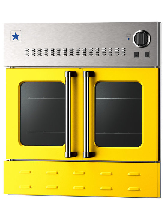 "BlueStar 36"" Single Wall Oven- Gas Oven - Traffic Yellow (RAL 1023)"
