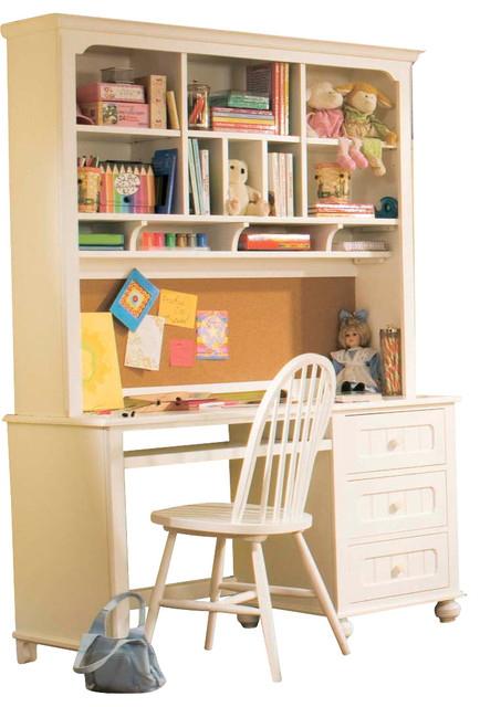 Lea my style 3 drawer computer desk with hutch chair traditional kids products by beyond - Hutch style computer desk ...