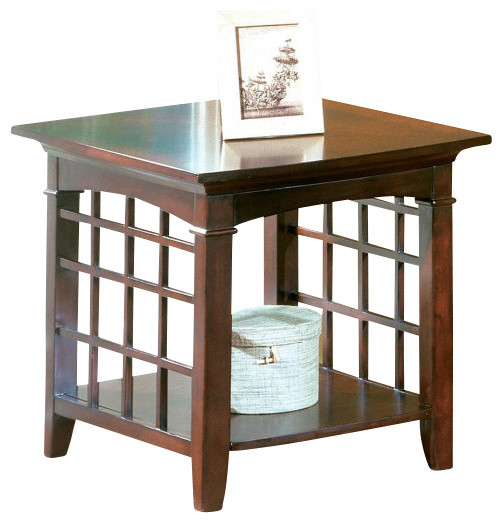 Standard Furniture Glasgow 24 Inch End Table in Chocolate Cherry traditional-side-tables-and-end-tables