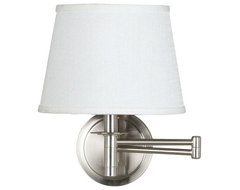 Perfect for bed bathroom or reading area the Sheppard Wall Swing Arm Lamp casts contemporary-wall-sconces