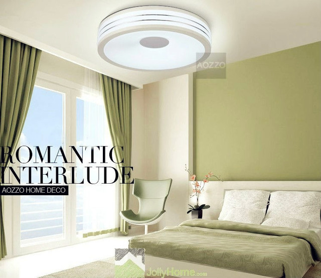 Led bedroom white round ceiling lights modern other for Bedroom ceiling lights