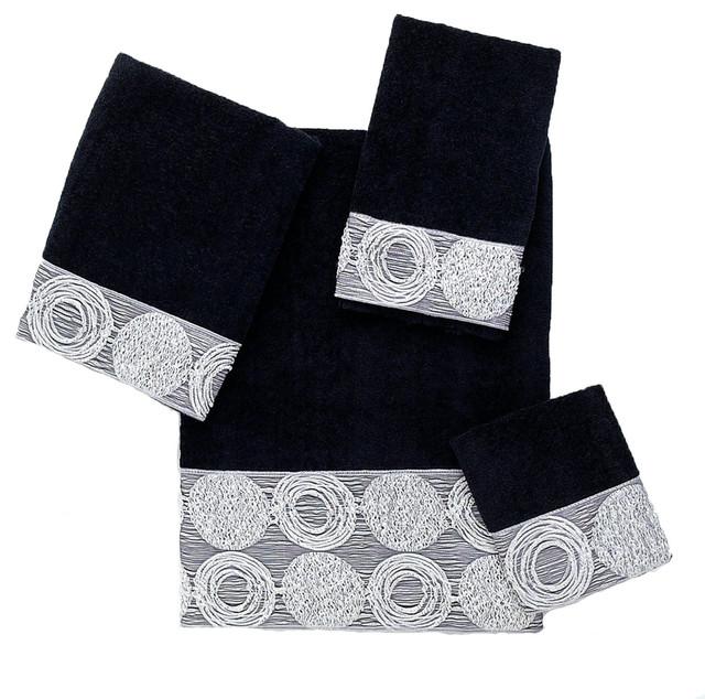 Galaxy 4 Piece Cotton Towel Set By Avanti Linens Black Contemporary Bath Towels By Avanti