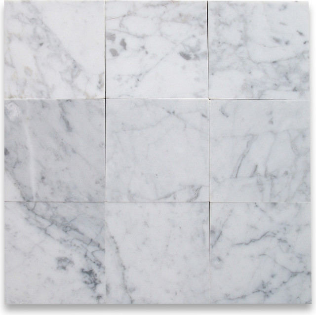 Carrara White 6 X Tile Polished Marble From Italy
