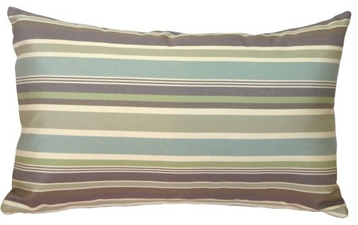 Pillow Decor - Sunbrella Brannon Whisper Stripes Outdoor Pillow