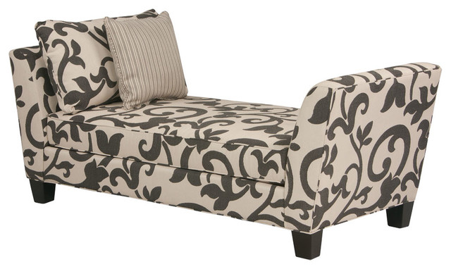 Brooke accent chaise modern indoor chaise lounge for Accent chaise lounge