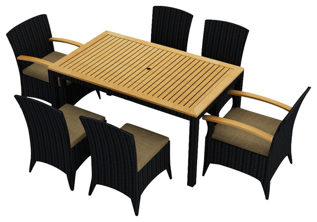 7 Piece Arbor Dining Set  by Harmonia Living modern-outdoor-dining-tables