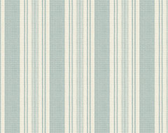 Aqua & Ivory Handwoven Stripe Fabric rustic-upholstery-fabric