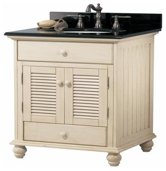 Foremost Cottage 24 Inch Vanity Premium Antique White Finish - Bathroom Vanities And Sink ...