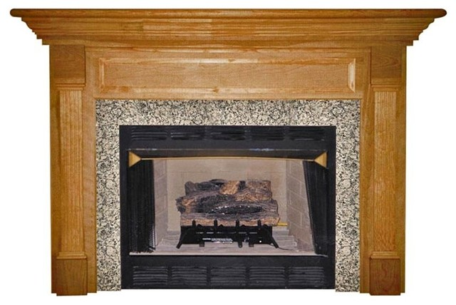 Agee Woodworks Harcourt Wood Fireplace Mantel Surround Multicolor - HARRISON4840 modern-fireplace-mantels