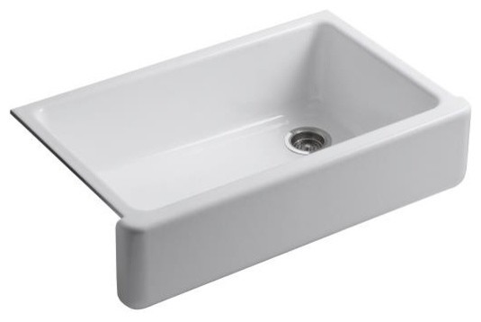 Kohler Apron Front Sink : ... Apron Front Single Basin Sink with Tal - Traditional - Kitchen Sinks