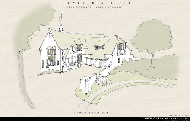Clemon Residence traditional-rendering