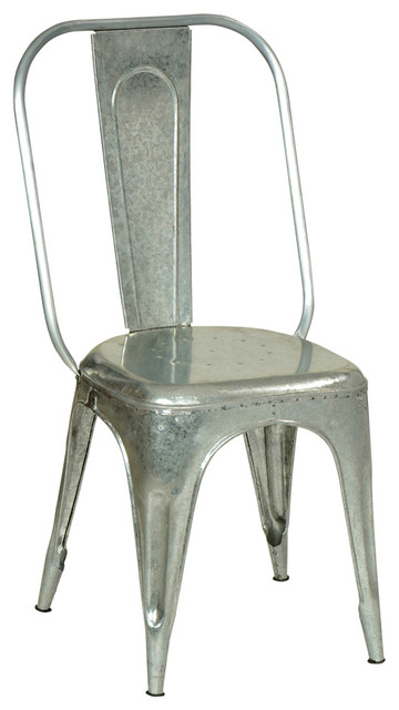 galvanized metal chair industrial dining chairs