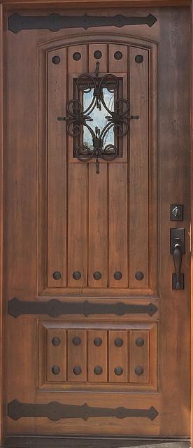 Front door black walnut fiberglass rustic door rustic - Rustic fiberglass exterior doors ...