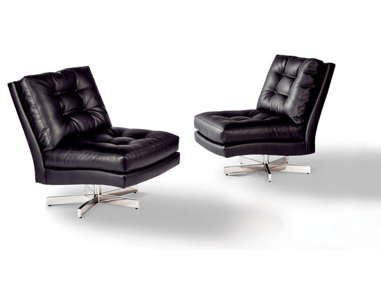 Steve Spinner Armless Swivel Lounge Chair by Milo Baughman from Thayer Coggin - Thayer Coggin, Inc.