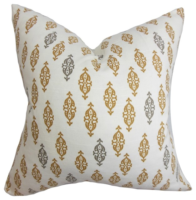 Ziven Geometric Pillow Brown contemporary-pillows
