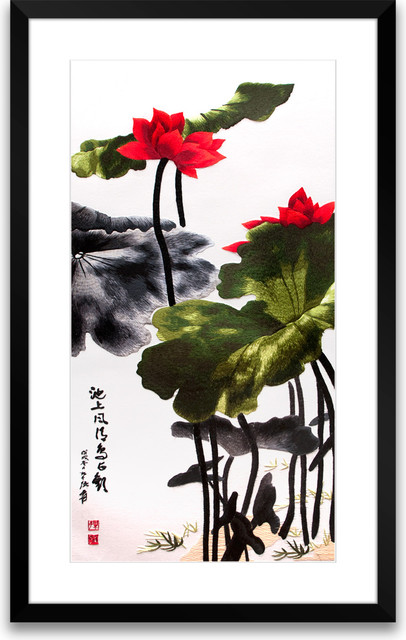 Bring Forth the Noble - Hand Designed Silk Art, Silk Embroidery asian-artwork