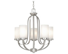 Oxford Brushed Nickel 5 Light Chandelier traditional-chandeliers