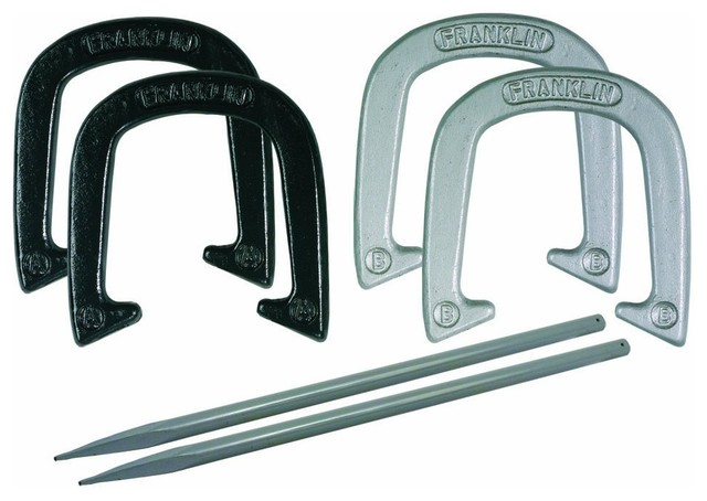 Franklin Sports Expert Pitching Horseshoe Set traditional-outdoor-and-lawn-games