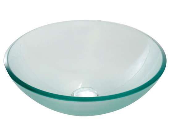 Kraus GV-101FR Frosted Glass Vessel Sink - Kraus GV-101FR Frosted Glass Vessel Sink