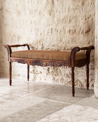 Rosette Bench traditional-indoor-benches