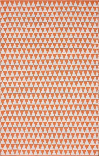 Brilliance Outdoor Prism Checks Orange Rug Contemporary