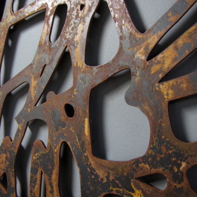 Rusted steel wall art contemporary atlanta by moda industria - Wall arts images ...