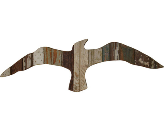 """Reclaimed Wood Seagull Plaques - These pieces screams, """"come live with me in a house by the sea!"""" One click or call and you can own a flock! Bring the beach walker's companion indoors where it will reward you with peaceful flights of fancy."""