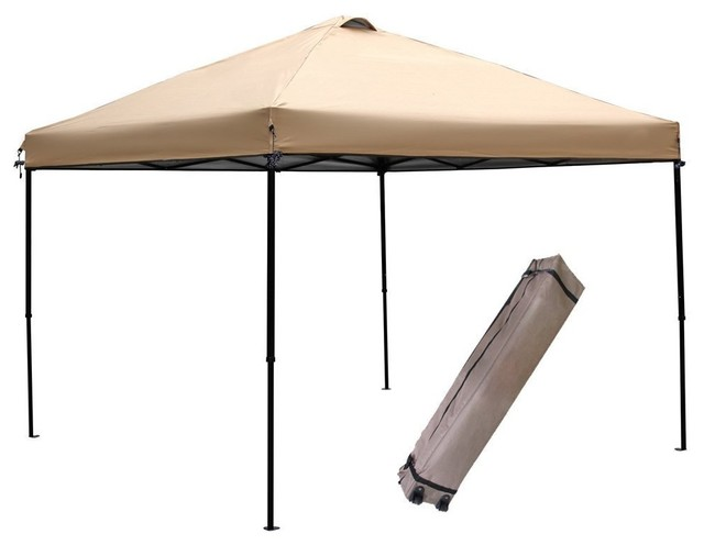 ... Abba Patio Khaki 10x10 Feet Outdoor Portable Pop Up Canopy Tent With  Vented   Contemporary ...