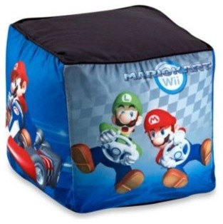 Super Mario Bros Ottoman Contemporary Kids Chairs