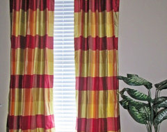 Plaid Silk Drapes traditional curtains