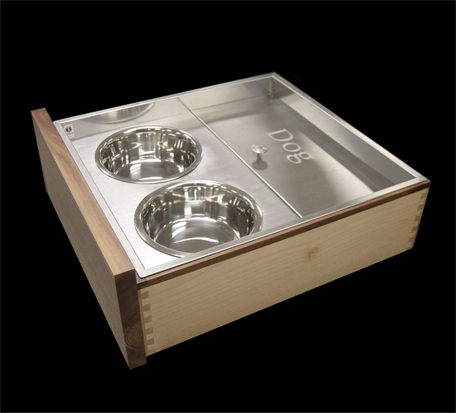 Custom Stainless Pet Feeding Drawer  cabinet and drawer organizers