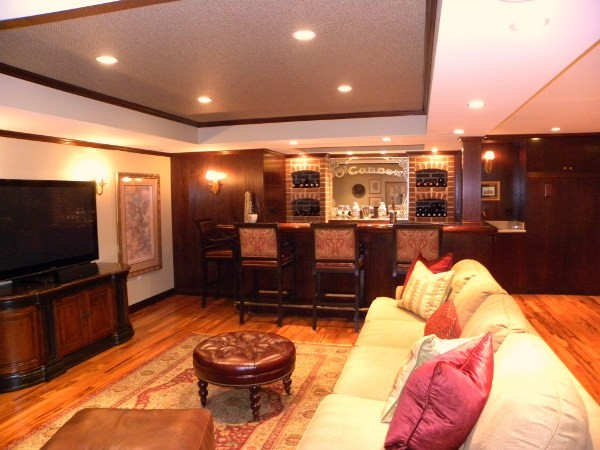 Basement Bar/Family Room/ Play area traditional