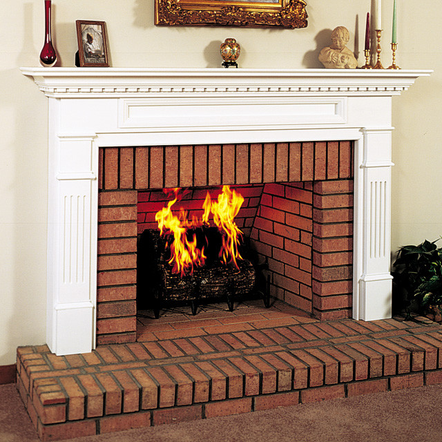 Monticello Wood Fireplace Mantel Traditional Indoor
