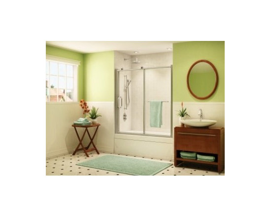 """Fleurco Roma Tub 58"""" - 59"""" Door and Panel FRM2-260 - Chrome and brushed nickel anodized aluminum finishes"""