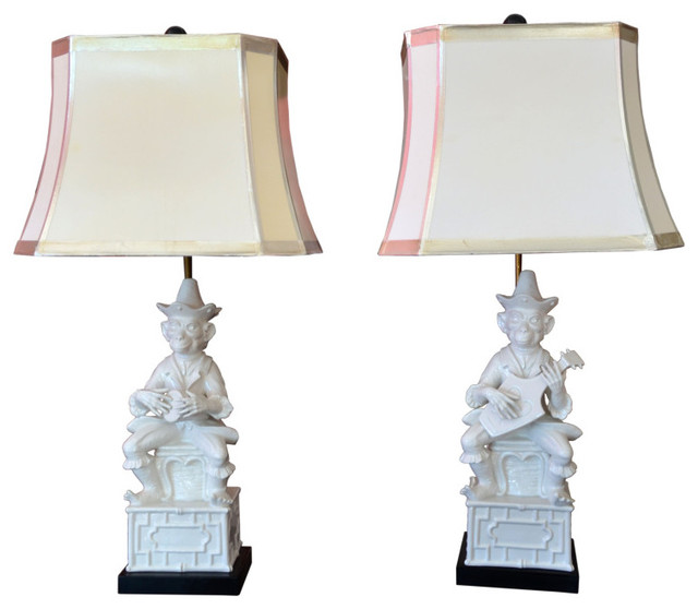Whimsical Italian Monkey Lamps eclectic-table-lamps
