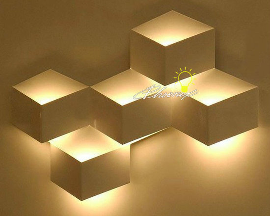 Grille Wall Sconce - Color:Gold,black