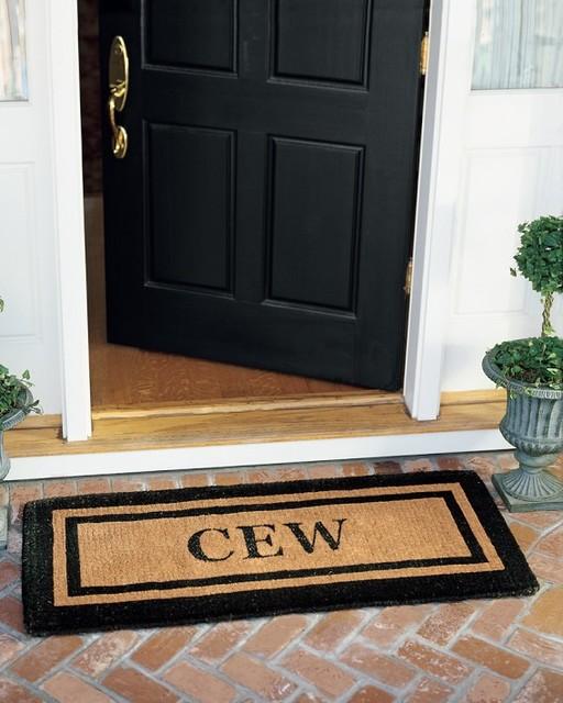 Personalized Picture Frame Coir Doormat traditional-doormats