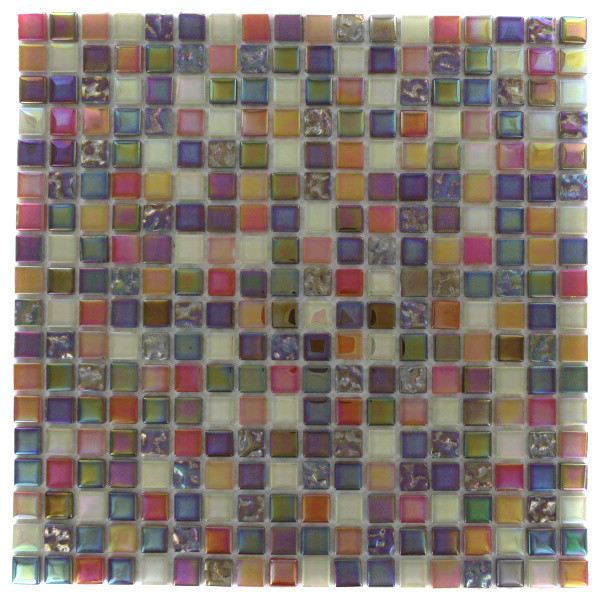 Whimsical Fairy Dust Glass Tile contemporary-tile