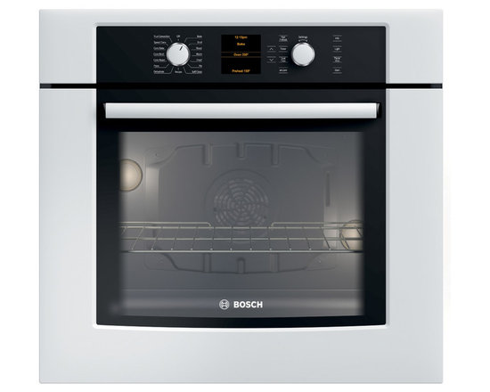 """Bosch 30"""" 500 Series Single Wall Oven With Convection, White 