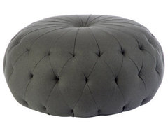 """Pouf 43"""" Round Ottoman eclectic-footstools-and-ottomans"""
