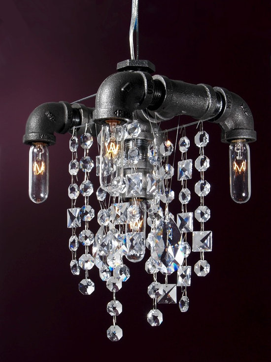 Michael McHale Designs - Tribeca Collection 5-Bulb Compact Pendant Chandelier -
