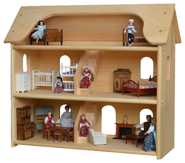 Seri's Wooden Toy Dollhouse traditional-kids-toys-and-games